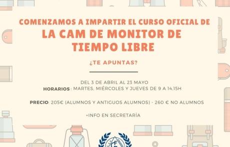 Curso de la CAM de Monitor de Tiempo Libre